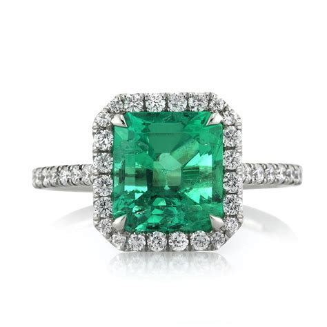 2 84ct emerald and diamond engagement ring ebay
