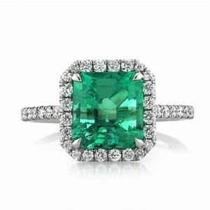 284ct emerald and diamond engagement ring ebay for Emerald and diamond wedding ring