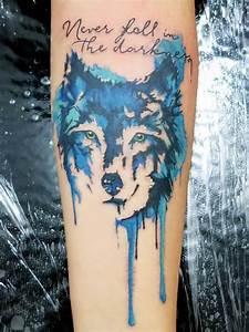 Interest tattoo ideas and design - Watercolor Wolf Head ...