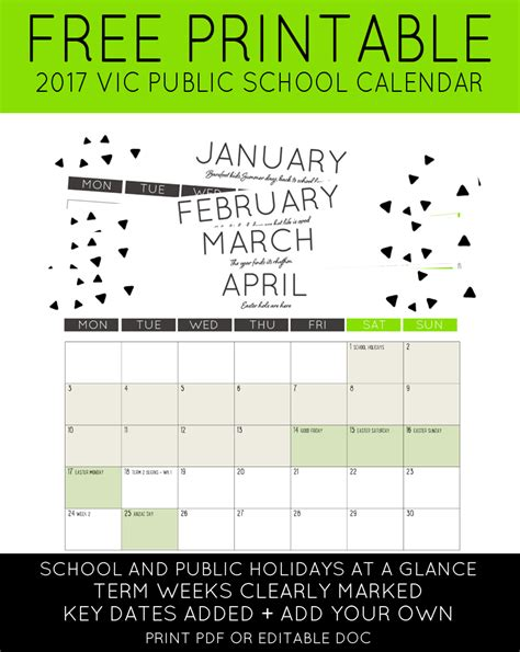 elementary school calendar 2017 vic school holidays calendar maxabella
