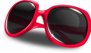 Pink sunglasses vector clipart image - Free stock photo ...