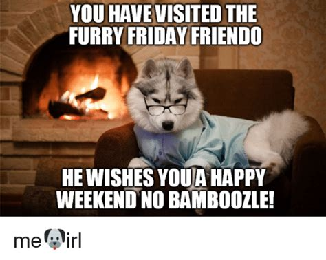 Happy Weekend Meme - you havevisited the furry friday friendo he wishes youa happy weekend no bamboozle friday