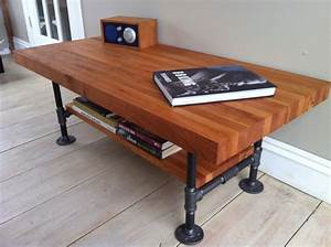 coffee table industrial style coffee table on wheels With bench style coffee table