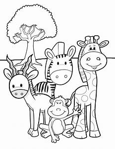 African Animal Coloring Pages Coloring Home