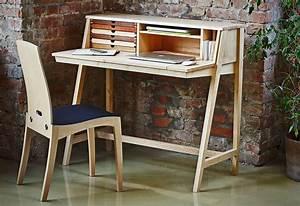 Sekretär Modern Design : moderner sekret r holz integrierter stauraum ~ Watch28wear.com Haus und Dekorationen