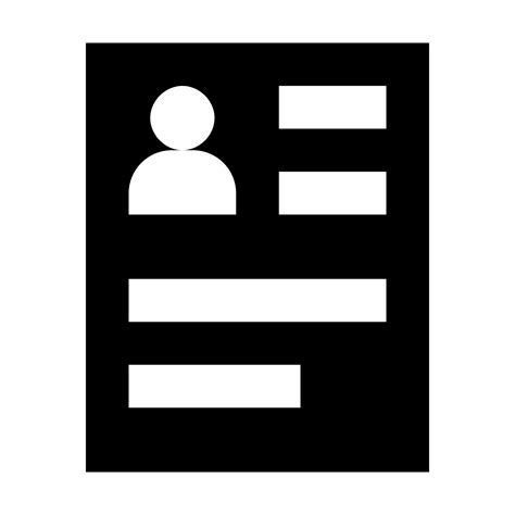 15016 resume icon white cv icon free icons