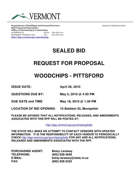 bidder statement template sealed bid request for proposal