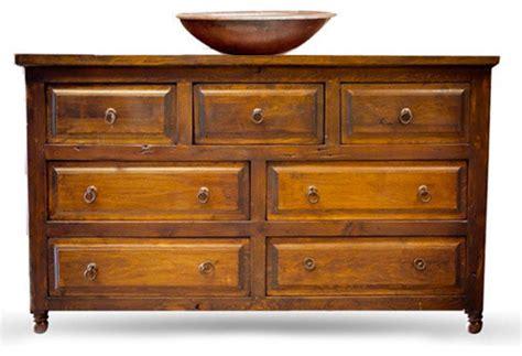 Reclaimed Wood Vanity With Drawers-rustic-bathroom