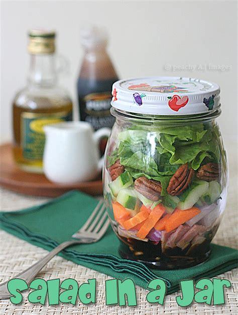 salad   jar  peach kitchen
