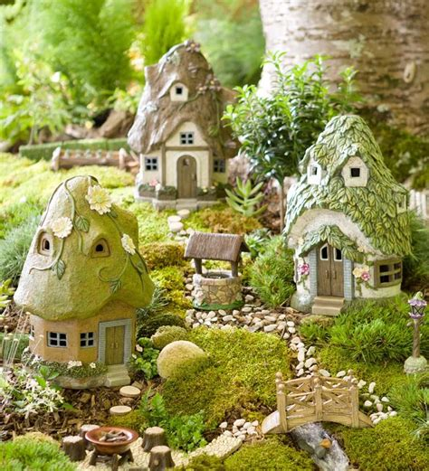 round solar fairy house mini fairy gardens plow hearth