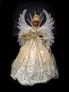Ange De Noel Pour Cime De Sapin : ange de sapin de no l de 48 3 cm lumineux en fibre optique cr me cuisine maison ~ Teatrodelosmanantiales.com Idées de Décoration