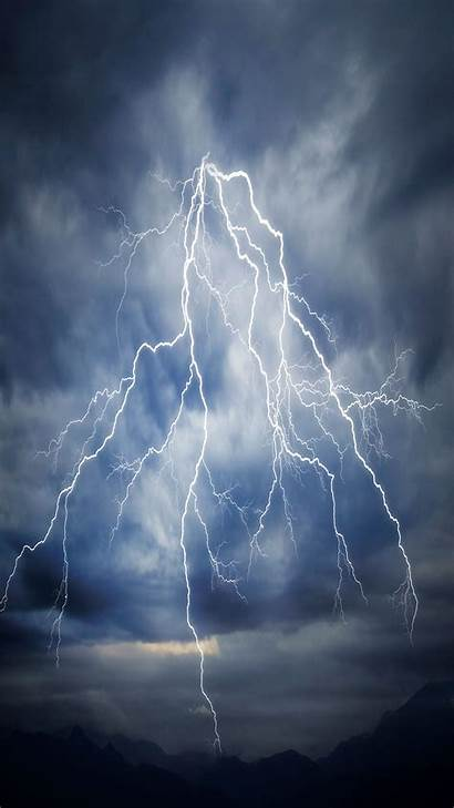 Lightning Iphone Wallpapers Pro Max Sky Phone
