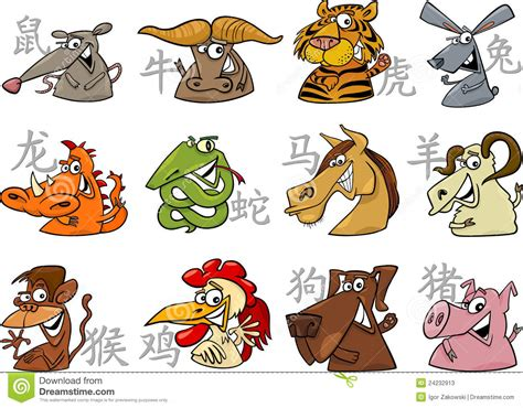 chinese zodiac signs stock  image