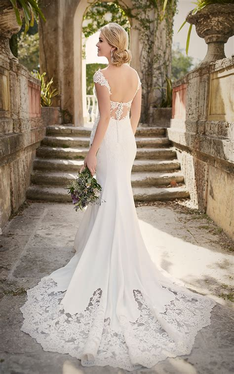 Lace Cap Sleeve Wedding Dress Essense Of Australia