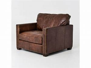 """40"""" W Club Chair Top Grain Distressed Leather Vintage ..."""