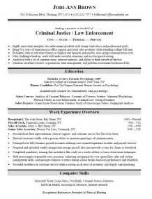 criminal justice resume objective exles resume sle for criminal justice enforcement graduate