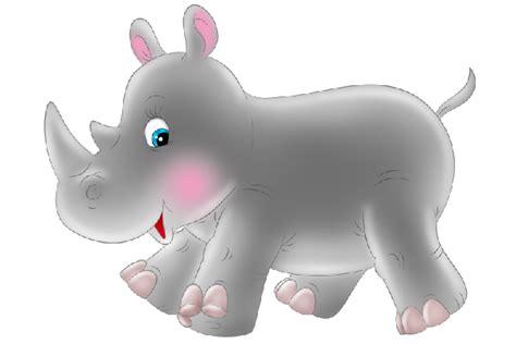 Baby Rhino Cartoon Clip Art