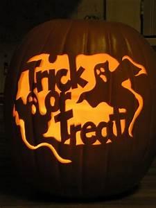 trick or treat pumpkin carving design enblow With trick or treat pumpkin template