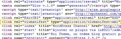 Désactiver Windows Live Writer Sous Wordpress