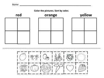 Kindergarten Math Sorting  By Color, By Size, By Shape, Button Sorting  Colors, Math And Shape