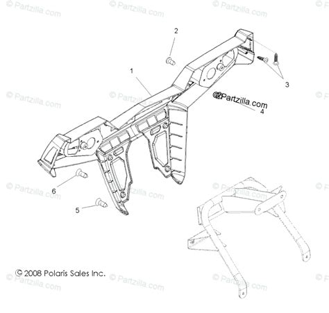 Polaris Side Oem Parts Diagram For Body Rear