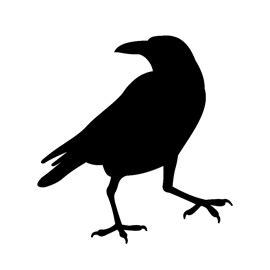 raven silhouette stencil  stencil gallery