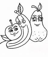 Coloring Pages Bananas Funny Banana Printable Split Papaya Apples Dancing sketch template