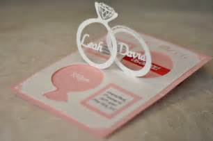 up wedding wedding invitation linked rings pop up card template