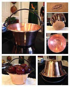 lecellier villedieu qt french solid copper pan sugar candy jam pot polenta jam pot