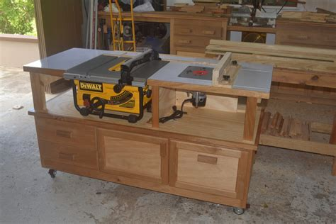 portable table saw stand plans free table saw router cabinet finewoodworking
