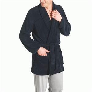 peignoir homme vente en ligne de peignoirs microfibres With robe de chambre courte homme