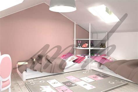 amenagement d une chambre amenagement d 39 une chambre de petites filles sous les
