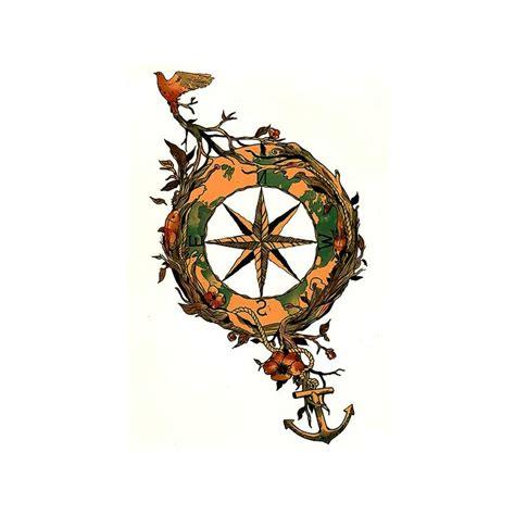 tatouage boussole tatouage oiseau tatouage ephemere ancre