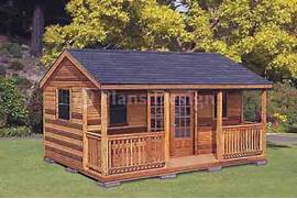 Shed Home Designs by 16 X 20 Cabin Shed Guest House Building Plans 61620 EBay