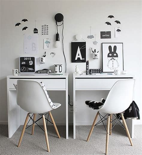 micke bureau ikea micke desk setup for two minimalist desk design ideas
