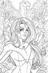 Phoenix Adult Jamiefayx Jean Grey sketch template