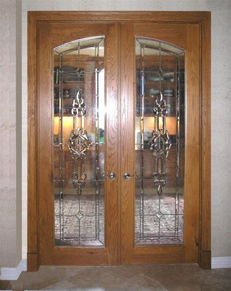 stained glass interior french doors design  ideas