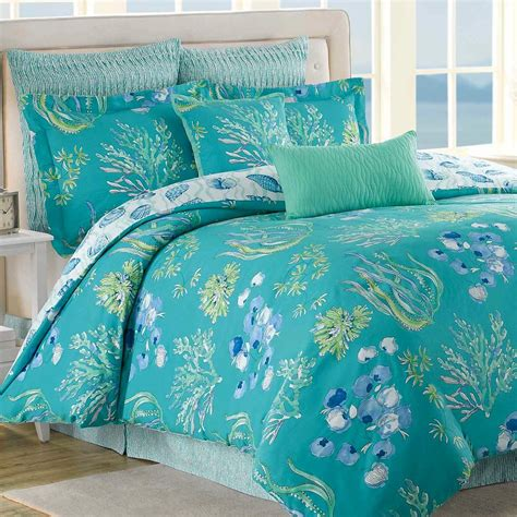 beachcomber turquoise ocean 8 pc comforter bed set
