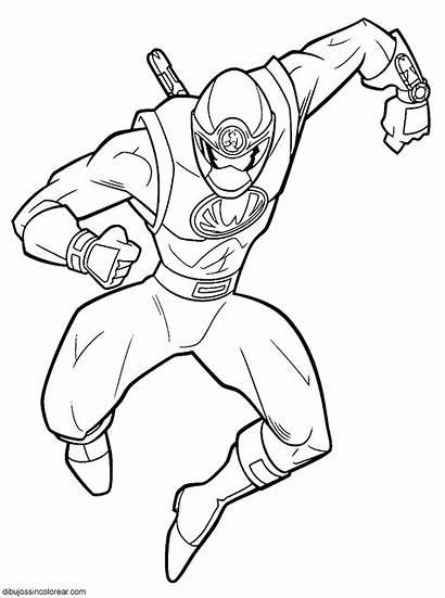 Power Rangers Dibujos Samurai Colorear Ranger Personajes
