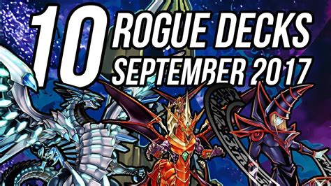 decks yu gi oh rogue format september underrated