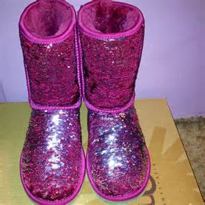 pink ugg slippers sale 45 ugg shoes sale pink sparkle uggs color from sheanna 39 s closet on poshmark