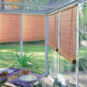 Lewis Hyman Woodgrain Indoor  Outdoor 1  4 Inch Rollup Blind