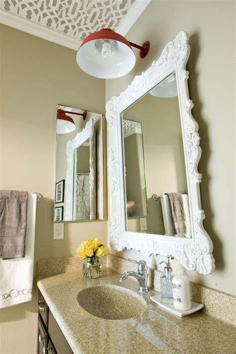 unique bathroom mirror ideas cool decorative oval mirrors bathroom decorating ideas gallery in powder room traditional design