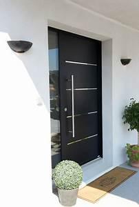 porte d39entree aluminium contemporaine cotim 11 With porte d entrée alu avec miroir salle de bain contemporain