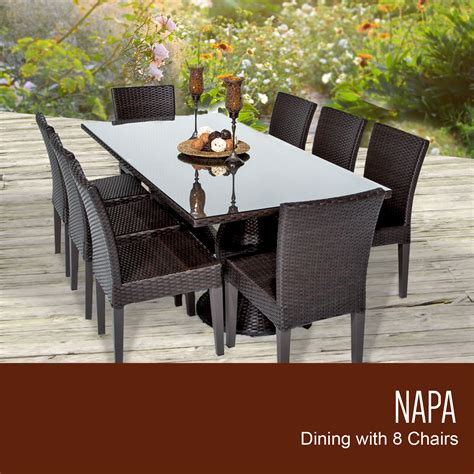 tk classics napa rectangular outdoor patio dining table