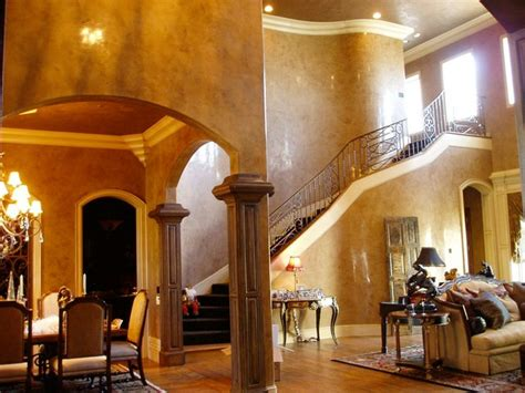 venetian plaster traditional dining room dallas