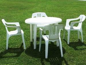 Table Et Chaise Camping : table et chaise de jardin pas cher en plastique mobilier de jardin plastic patio furniture ~ Nature-et-papiers.com Idées de Décoration