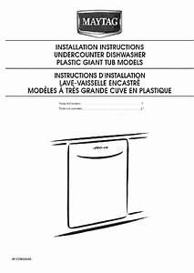 Maytag Mdb4709a Dishwasher Installation Instructions