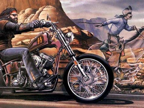 David Mann Ghost Rider Painting- My Uncle Had This On His
