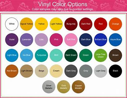 Vinyl Colors Chart Jewelry Web Pages Gifts